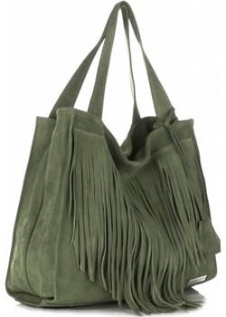 Uniwersalne Torebki Skórzane firmy VITTORIA GOTTI Zielone Vittoria Gotti okazja torbs.pl - kod rabatowy