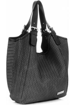 Włoskie Torebki Skórzane ShopperBag VITTORIA GOTTI Szare Vittoria Gotti torbs.pl wyprzedaż - kod rabatowy