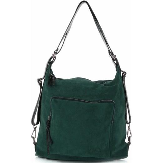 bd2fe3cd9f54c Shopper bag Vittoria Gotti skórzana zielona w Domodi