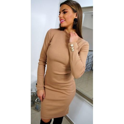 bf40ed3a23 Sukienka bawełniana ołówkowa na spotkanie biznesowe w Domodi