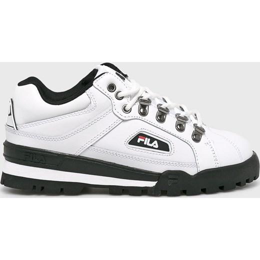 Wielka wyprzedaż profesjonalna sprzedaż nowe style Białe buty sportowe damskie Fila skórzane