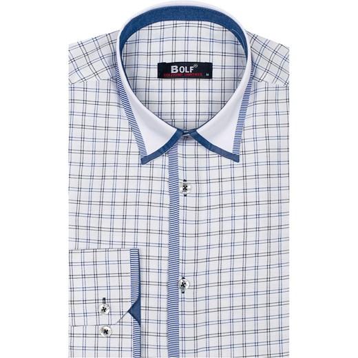 8346ef6ef33f1a ... L Koszula męska w kratę z długim rękawem biało-czarna Bolf 8812 Denley  XL. Zobacz: Denley