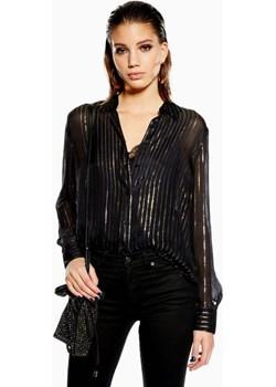 Metallic Thread Stripe Shirt Topshop   - kod rabatowy