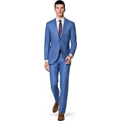 a9b991859343f Niebieskie garnitury męskie, lato 2019 w Domodi