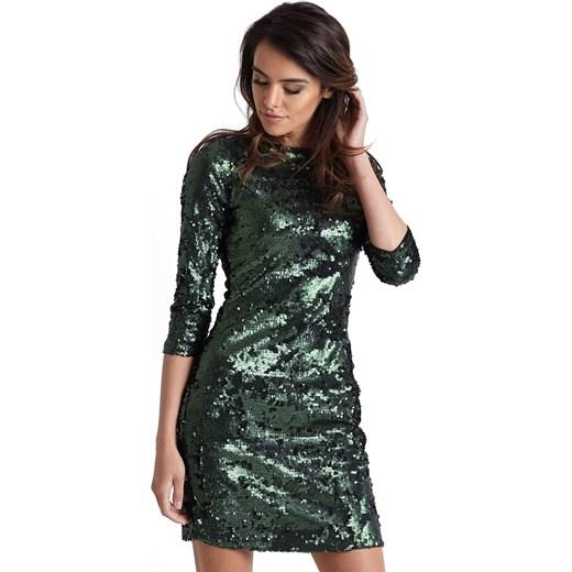 Sukienka Jestes Modna Glamour Na Wesele Dopasowana Z Okrągłym