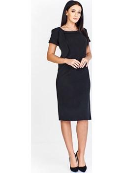 Sukienka FSU297 CZARNY fokus-fashion szary damskie - kod rabatowy