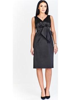 Sukienka FSU189 CZARNY fokus-fashion szary lato - kod rabatowy