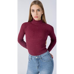 49f73ba9fb37 Sweter damski Zoio bez wzorów z golfem