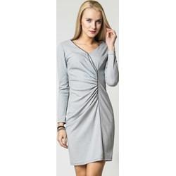 f12c6ab2a3 Szare sukienki dzianinowe asymetryczne