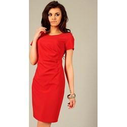 65e8e146fd Czerwone sukienki na wesele wyszczuplające