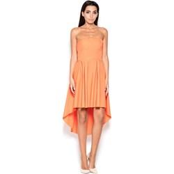 f9e61503f7 Sukienka asymetryczna midi gładka