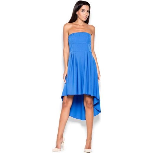 96f5e28808 Sukienka asymetryczna elegancka bez wzorów midi w Domodi