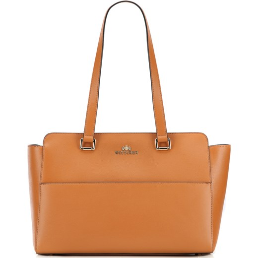 a17431c1a259a Shopper bag Wittchen skórzana brązowa na ramię elegancka w Domodi