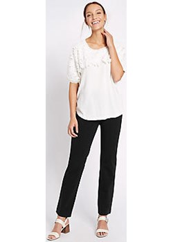 Cotton Rich Stretch Straight Leg Trousers  Marks & Spencer Marks&Spencer - kod rabatowy