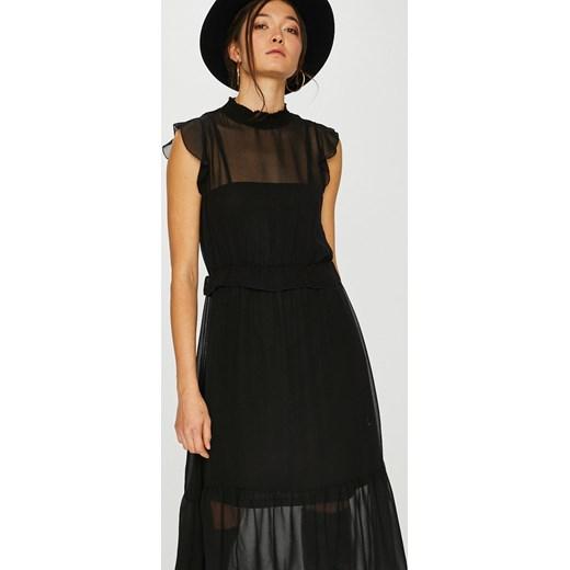 354d6d12b Sukienka Vero Moda midi z okrągłym dekoltem z krótkim rękawem w Domodi