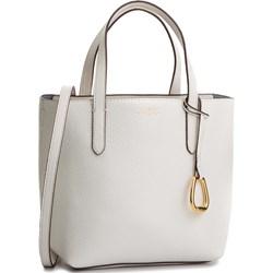 b41fe9d77f50d Shopper bag biała Lauren Ralph matowa na ramię duża ...
