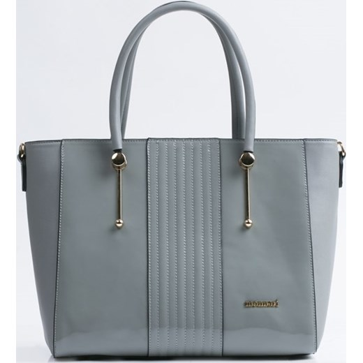 0f8dffcae3c2e Monnari shopper bag elegancka szara lakierowana w Domodi