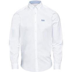 4a4a80d3d742c Boss koszula męska biała z długim rękawem z bawełny