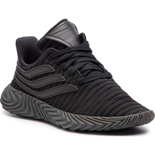032522f3974fc Buty sportowe damskie Adidas dla biegaczy na koturnie w paski ze skóry  ekologicznej