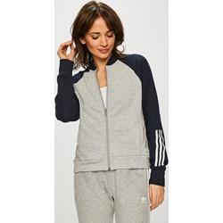 958bf56dfb083c Bluza sportowa Adidas Performance dzianinowa bez wzorów na jesień