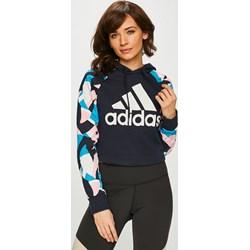 83189621b98d91 Granatowa bluzy sportowe damskie adidas performance, zima 2019 w Domodi