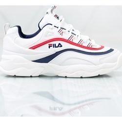 f71b0395de5bb Białe buty sportowe damskie Fila płaskie