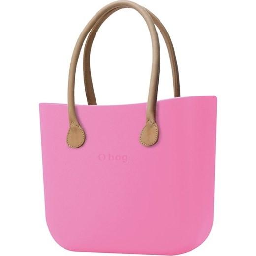1afd5afe62d08 O bag różowe torebka Różowy z długimi uchwytami ze skajki natural O Bag  Differenta.pl