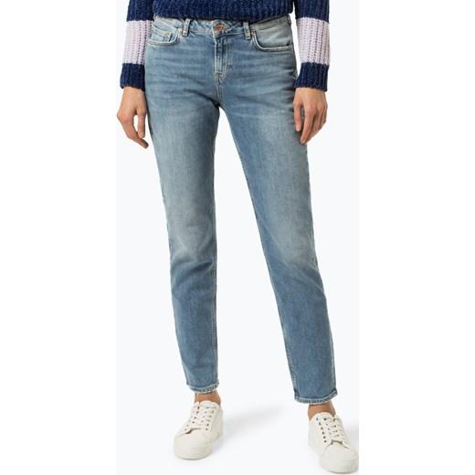 wylot Jeansy damskie Scotch&Soda w miejskim stylu z jeansu Odzież Damska NP niebieski Jeansy damskie NMCL