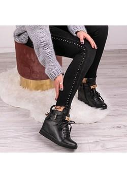 Czarne sneakersy Single Ladies - Obuwie Royalfashion.pl   - kod rabatowy