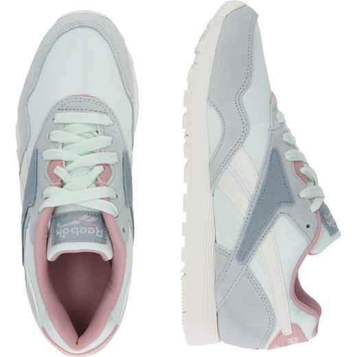 Buty sportowe damskie Reebok nylon sznurowane bez wzorów z zamszu