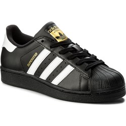 sports shoes cf1a6 1ff82 Trampki damskie Adidas superstar z niską cholewką wiązane casual gładkie ...