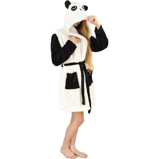 cfde0503127497 Ciepły pluszowy szlafrok z kapturem kigurumi onesie - panda S world-style.pl
