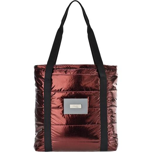 d5664c5bd8c77 Pikowana torebka damska shopper bag na ramię metaliczne wykończenie -  czerwony world-style.pl ...
