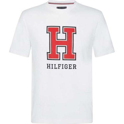 fe76d3849acae T-shirt męski biały Tommy Hilfiger z jerseyu letni w Domodi