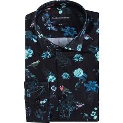 9e01f1574313d2 Koszula męska Triwenti w kwiaty z długim rękawem z elastanu w Domodi