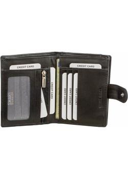 Portfel Męski Skórzany RFID Skóra Naturalna Czarny Pionowy  Koruma Koruma ID Protection - kod rabatowy