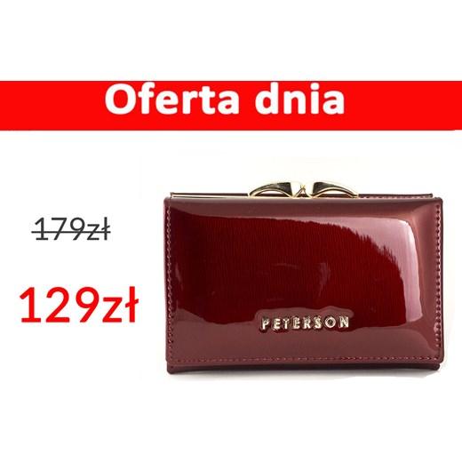 18d7d8ebd08ca Mały czerwony damski portfel skórzany Peterson BC412 R Galmark w Domodi