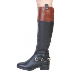 957867f817dc0 Granatowe kozaki damskie Pierre Cardin Underwear casual na obcasie