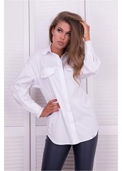 Biała koszula z kieszeniami 2323 2323, Kolor: Biały, Rozmiar: 36  Wibs  - kod rabatowy