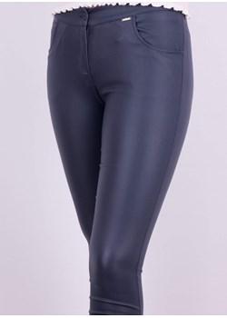 Spodnie z eko skóry granat 2280 2280, Kolor: Granat, Rozmiar: 38 Wibs   - kod rabatowy