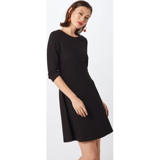 421264cd6c ... Czarna sukienka Esprit mini z długim rękawem z okrągłym dekoltem  Sukienka  Esprit trapezowa ...