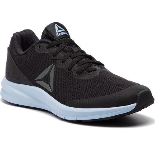 c94db138 Buty sportowe damskie Reebok dla biegaczy czarne sznurowane na koturnie w  geometryczny wzór