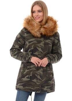 Damska kurtka w kolorze moro   fasoni.pl - kod rabatowy