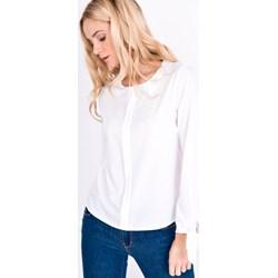 6fb46575f7 Bluzka damska Zoio biała bez wzorów z długim rękawem