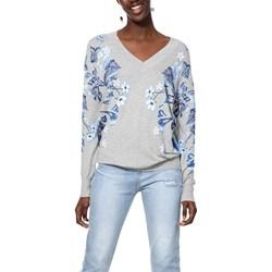f8ef5e7ee720d8 Sweter damski biały Desigual casualowy