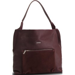 93f7890404324 Shopper bag Lasocki matowa czerwona na ramię