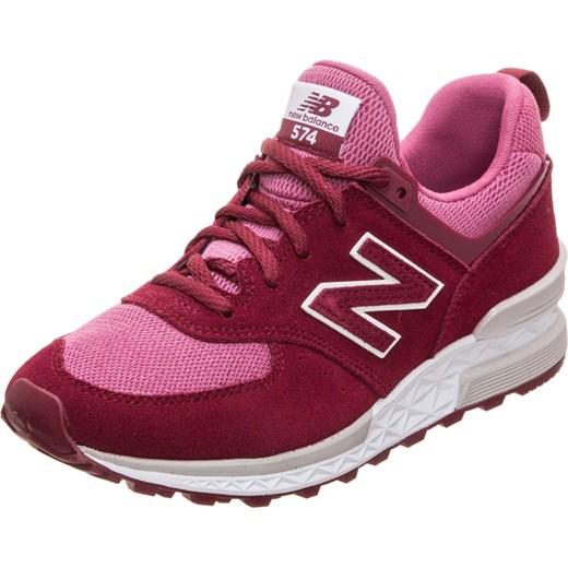 ... af9ad08e56c2 Buty sportowe damskie New Balance sneakersy młodzieżowe  różowe na wiosnę sznurowane na platformie . c9cd796e9f804