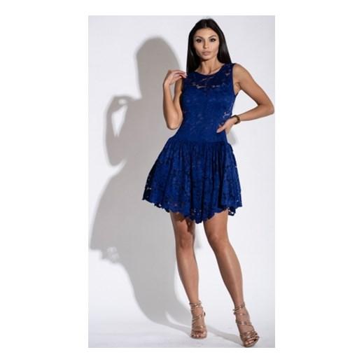 641a48359a La Perla sukienka bez rękawów na sylwestra mini z okrągłym dekoltem z  koronką ...