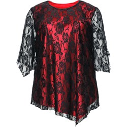 ee19f8885dcf99 Czarna koronkowa tunika wieczorowa modne-duze-rozmiary czarny boho w ...