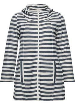 Bluza w paski z kieszeniami i kapturem   Modne Duże Rozmiary - kod rabatowy